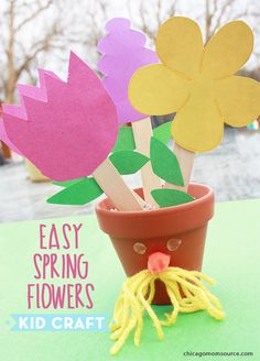 EASY Kid Craft: Spring Flowers, great for mothers day or any day!