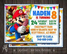 Super Mario Invitation Super Mario Printable Invitation Mario