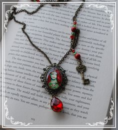 Vintage Steampunk Mermaid Necklace  Glass Fantasy by Lunarianart, £20.75
