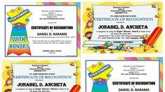CERTIFICATES Editable Templates FREE Download Free Certificate Templates, Free Certificates, Templates Free, Portfolio Design, Elementary Schools, Education, Words, Portfolio Design Layouts, Free Stencils
