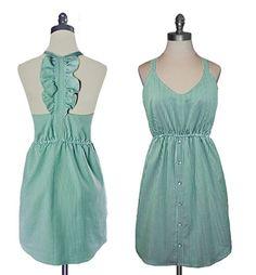 Judith March - Spearmint Pinstripe Strapless Dress. Ummm I love this dress. So.Much.