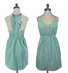 Judith March - Spearmint Pinstripe Strapless Dress. Ummm I love this dress. So.Much.