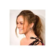 Leighton Meester Hair Trend Ponytail ❤ liked on Polyvore featuring blair waldorf, leighton meester and people