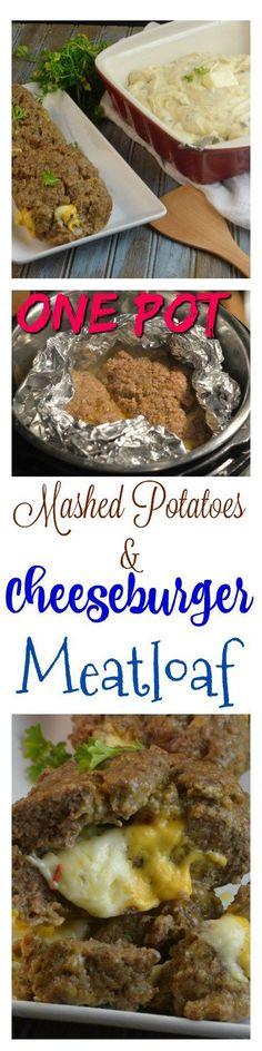 Cheeseburger Meatloaf & Mashed Potatoes