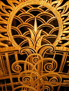 Gilded bronze, Art Deco grill, the Chanin Building, built in 1928 ...