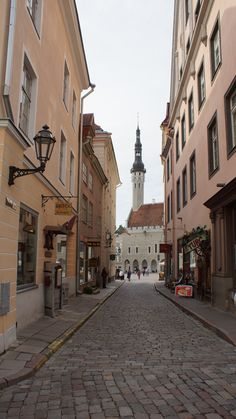 The Old Town streets in Tallinn, Estonia