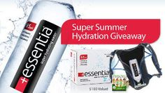 Essentia Water Giveaway picture - They have a giveaway that is almost over on their FB page.... come enter my new giveaway (has almost 3 wks to go) and while there go visit the Essentia Facebook Page Like them to enter my giveaway and to enter theirs too! LOL hey, 2 in 1 like! :)  Good Luck!