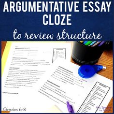 If you are teaching your middle school students how to write an argumentative essay with a separate counterclaim paragraph and need an extra practice activity to help make sure they have the structure of the essay down pat, then this is for you! Writing Lesson Plans, Writing Lessons, Teaching Writing, Writing Ideas, Sentence Writing, Paragraph, Essay Writing, Middle School Ela, Middle School English