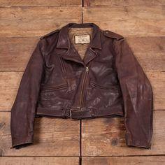 Vêtements, Accessoires Chevignon Flying Jacket Cuir Junior Vintage High Safety Manteaux, Vestes