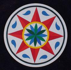 Traditional Weather Hex Ensures Rain & Sun for Crops - Prosperity, Fertility, Abundance Symbols Used 8pt. red star - Sun; light &a...