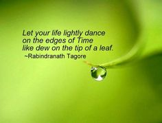Let your life lightly dance on the edges of Time lie dew in the tip of a leaf ~Rabindranath Tagore Tagore Frases, Tagore Quotes, Bengali Song, Dancing On The Edge, Swami Vivekananda Quotes, Rabindranath Tagore, I Want To Cry, Magic Words