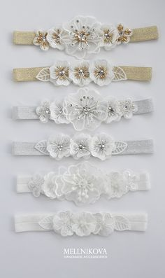 From Belly Rings To Tennis Bracelets, This Jewelry Advice Is King – Finest Jewelry Diy Baby Headbands, Flower Girl Headbands, Diy Hair Bows, Diy Headband, Baby Bows, Baby Hair Accessories, Wedding Accessories, Garter Belt Wedding, Cartier Love Bracelet