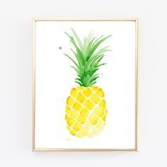 Ananas de Piña aquarelle Giclee Print d'un Original par THEAESTATE