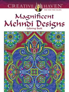 Art Coloring Book Adults Creative Animal Mehndi Designs Relaxing Stress Therapy