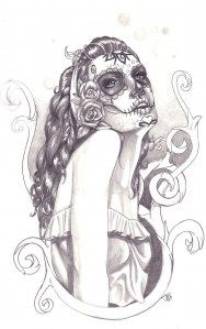 Reference for the sugarskull lady imma get.