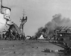 HMS Indomitable Kamikaze attack