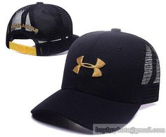 Under Armour Caps Adjustable Mesh Hats Snapback Caps Black Gold|only US$6.00 - follow me to pick up couopons.