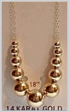 Vintage 14kt Gold Add A Bead Necklace Quot Stunning Quot I