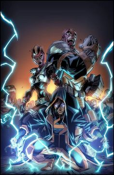 Here you'll find an other-worldly exhibition of The Worlds Greatest Superheroes, and Deadliest Super Villains of Marvel, & DC Comics. Dc Heroes, Comic Book Heroes, Comic Books Art, Comic Art, Black Characters, Dc Comics Characters, Fictional Characters, Arte Dc Comics, Marvel Comics