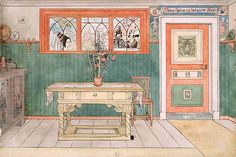 "Carl Larsson ""Matsalen"" (1894-97), ur Ett Hem. Nationalmuseum."