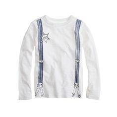 Boys' long-sleeve suspenders tee