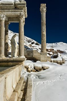 Some remains of the ancient city of Sagalassos in the Taurus Mountains of Turkey; photo by James Drury