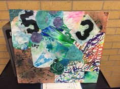 Art I Abstract Mixed Media Painting collages
