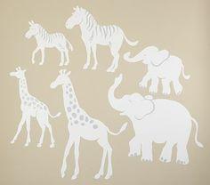 I love the White Safari Animal Decals, Zebras, Set of 2 on potterybarnkids.com