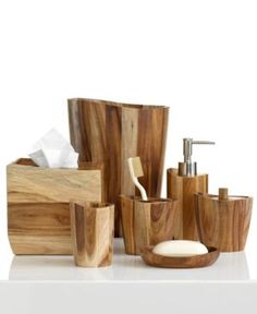 Wooden Bath Accessories Wood Bathroom Downstairs Sets Jungle