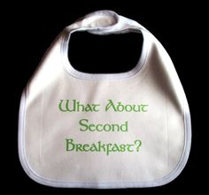 Second Breakfast lord of the rings inspired bib via Etsy.