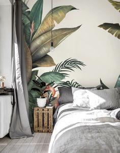 Tropical Bedrooms, Tropical Home Decor, Tropical Interior, Tropical Houses, Tropical Furniture, Urban Home Decor, Tropical Garden, Tropical Wallpaper, Wallpaper Jungle