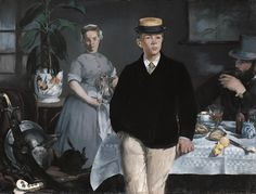 Édouard Manet (French 1832–1883) Breakfast in the Studio (the Black Jacket), 1868. Neue Pinakothek, Munich.