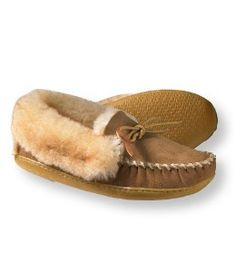 LL Bean's Wicked Good Moccasins  - they last for years, on my second pair - worth every penny.