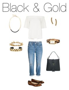 """""""Black & Gold"""" by gill-carruthers on Polyvore featuring River Island, Accessorize and Stella & Dot"""