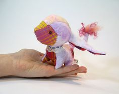 Chibi Plush - 'Purple Cheshire' by Lithe-Fider