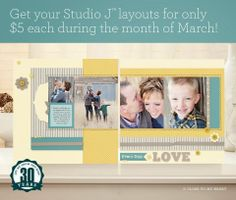 Lauren Loves To Scrap: March's Special ~ Studio Savings! ~ Digital Scrapbooking ~ Shipped Right To Your Door!