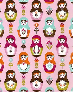 'Little Matryoshka' collection by Carly Griffith for Riley Blake Designs.
