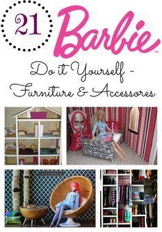 21 Do it Yourself Barbie Furniture & Accessories