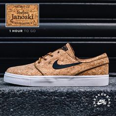 #nike #nikesb #stefanjanoski #cork #sneakerbaas #baasbovenbaas  Nike Sb Stefan Janoski 'Cork'- Another Cork release this year! We can't get enough of this fresh colorway and use of materials.  One hour to go   Priced at 99.95 EU   Men Sizes 36- 46 EU