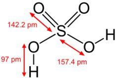 Acids - Structures: Sulfuric Acid
