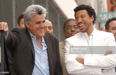 Jay leno and Lionel Richie. during Lionel Richie Honored with a Star on the Hollywood Walk of Fame for His Achievements in Music at Hollywood Boulevard in Hollywood, California, United States.