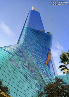 Discover the world through photos. Amazing Architecture, Modern Architecture, Riyadh Saudi Arabia, Cool Photos, Amazing Photos, Burj Khalifa, Facade, Skyscraper, Multi Story Building