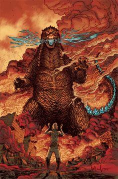 Godzilla: Cataclysm #3 by Dave Watcher *