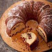A layer of brown sugar, cinnamon and pecans swirls through the center of this delicious sour cream coffee cake. Recipe: http://www.midwestliving.com/recipe/coffee-cakes/sour-cream-swirl-coffee-cake