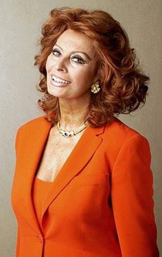 One of my favorite ladies of film - her hair looks gorgeous!  2002 Toronto Film Festival - Sophia Loren