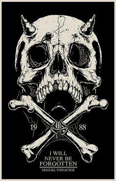 i will never be forgotten by chibogfud on DeviantArt Psycho Wallpaper, Skull Wallpaper, Arte Horror, Horror Art, Dark Fantasy Art, Dark Art, Tatoo Pirate, Totenkopf Tattoos, Satanic Art