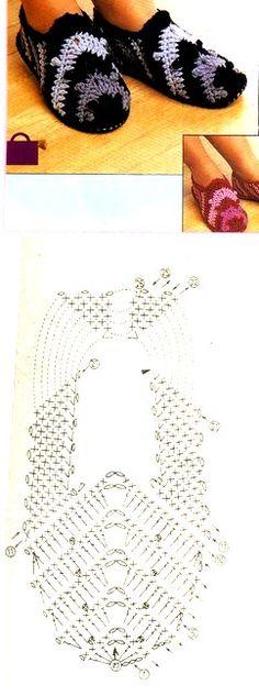 crochet tuto slippers (14) Easy Crochet Slippers, Crochet Socks, Crochet Gloves, Knitting Socks, Crochet Boots Pattern, Crotchet Patterns, Knitting Patterns, Crochet 101, Love Crochet