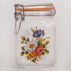 Rose Hip Glass Storage Jar
