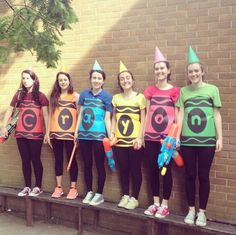 Get colorful! Party hats and poster board will make you and your friends crayons this season. More at Ylakeland.com.