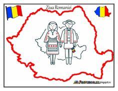 HARTA ROMANIEI - 1 Decembrie - COPII in Costume TRADITIONALE | Fise de lucru - gradinita
